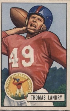 Tom L:andry rookie card 1951 Bowman