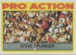 Steve Spurrier In Action 1972 Topps