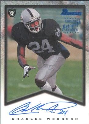 1998 Charles Woodson Bowman rookie