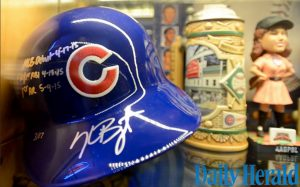 Kris Bryant game-used signed helmet