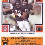 William Perry 1985 McDonalds card