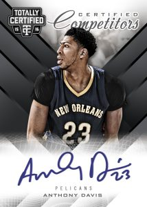 2015-16 Totally Certified Anthony Davis auto