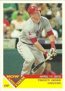 Now and Then Mike Trout 2015 Topps Heritage High