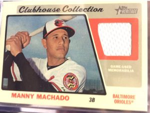 Manny Machado 2015 Topps Heritage High Number Clubhouse Collection relic