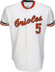 1977 Brooks Robinson Orioles game jersey