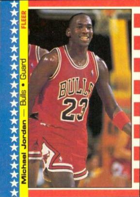 Michael Jordan Fleer sticker 1987-88