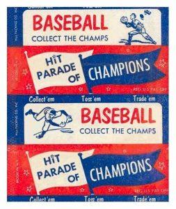 1952 Berk Ross Baseball wrapper