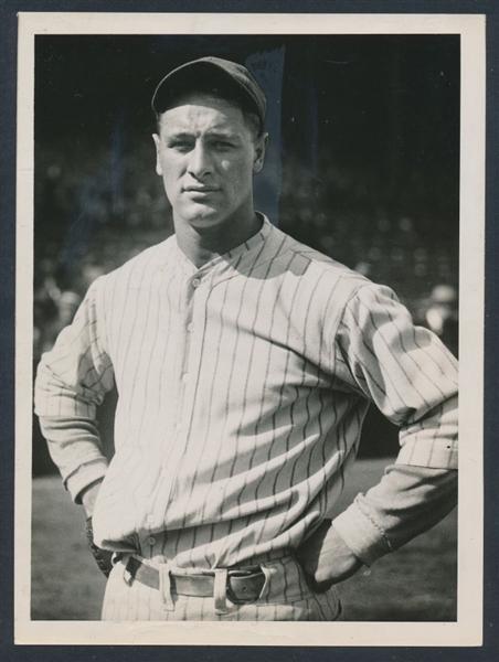1926 Lou Gehrig photo Charles Conlon