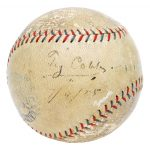 Signed Ty Cobb ball 1925