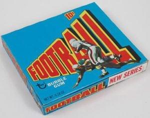 Topps 1972 football box