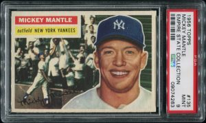 Mickey Mantle 1956 Topps PSA 9