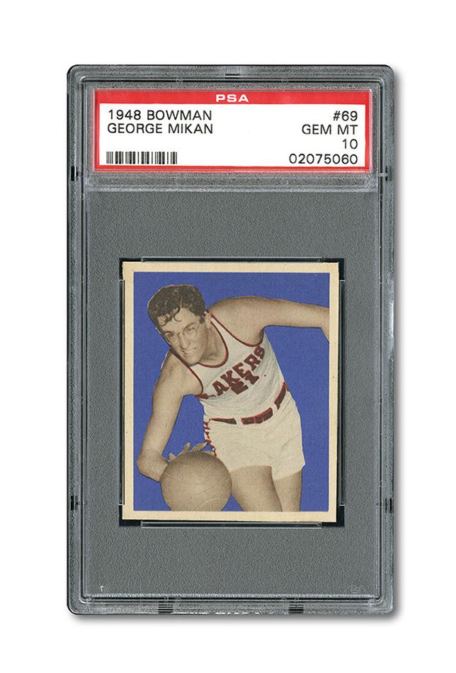 George Mikan PSA 10 rookie card 1948 Bowman