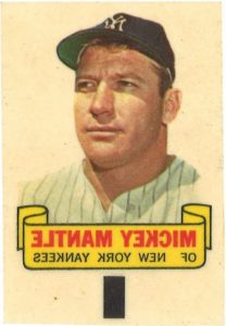Mickey Mantle 1966 Topps rub-off