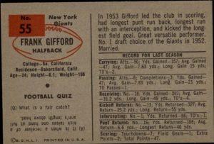 1954 Bowman football back
