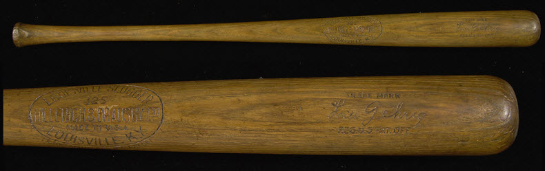 Lou Gehrig 1930s bat