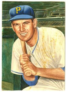 Johnny Lindell painting 1953 Topps