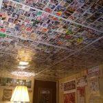 Ceiling of baseball cards