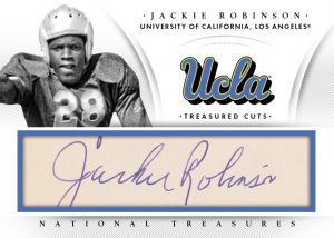 Jackie Robinson cut autograph 2015 National Treasures College