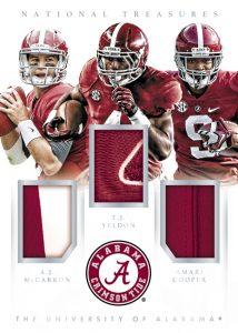 Alabama Crimson Tide patch relic 2015 National Treasures College