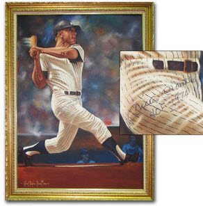 Simon painting of Mickey Mantle