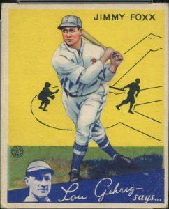 Jimmie Foxx 1934 Goudey