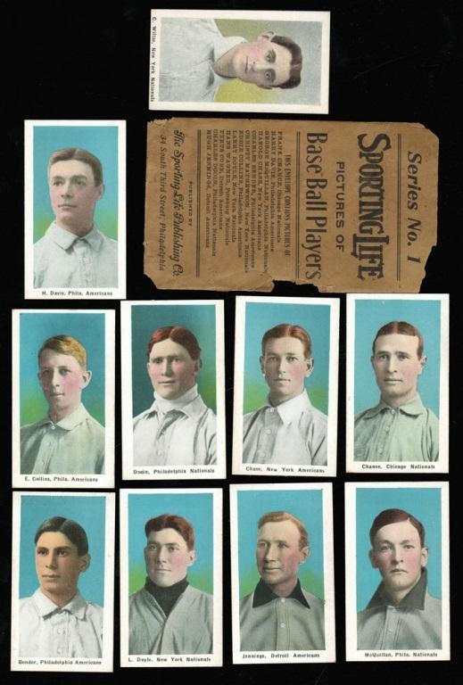 Sporting Life 1911 cards envelope