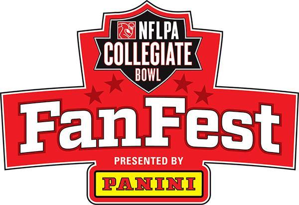 NFLPA Collegiate Bowl Fan Fest logo Panini