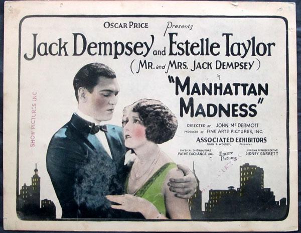Lobby card Manhattan Madness Jack Dempsy