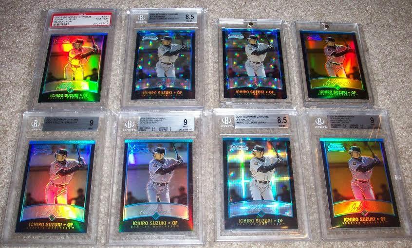 2001 Bowman Chrome refractors Ichiro