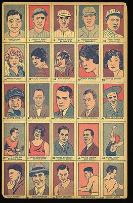 1920s strip cards athletes movie stars