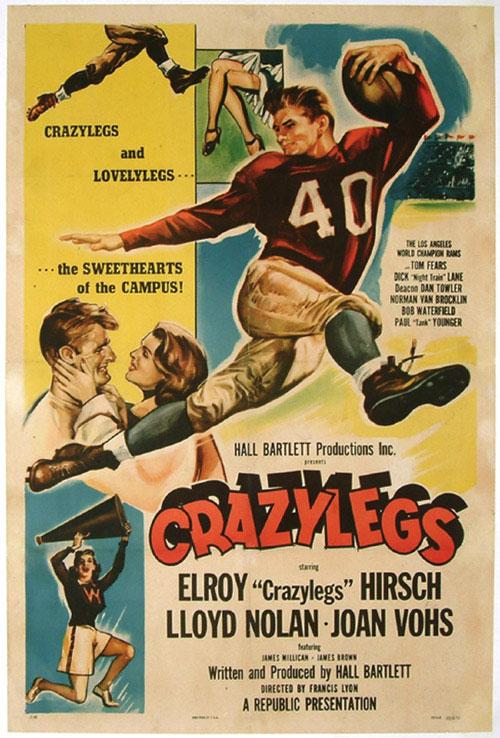 Movie poster Crazylegs starring Elroy Hirsch