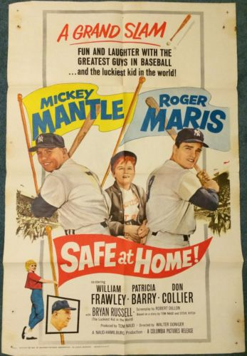 Safe at Home movie poster Roger Maris Mickey Mantle