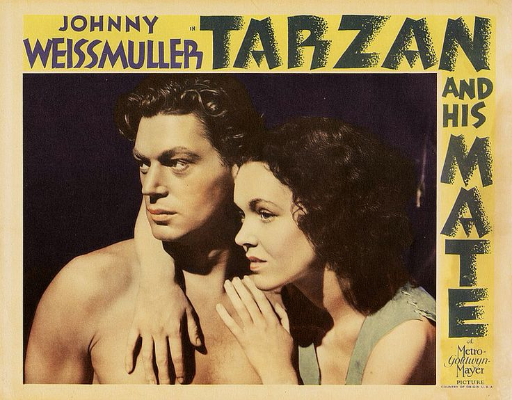 Lobby card Tarzan the Ape Man (1932) Johnny Weissmuller Maureen O'Sullivan