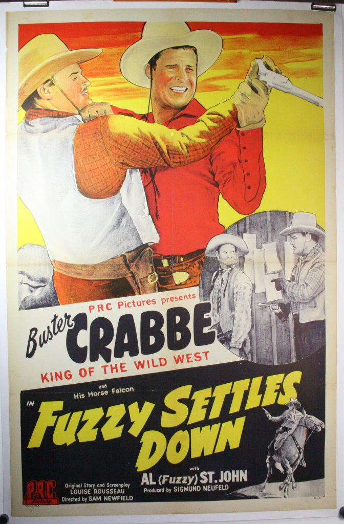 1944 poster Fuzzy Settles Down Buster Crabbe
