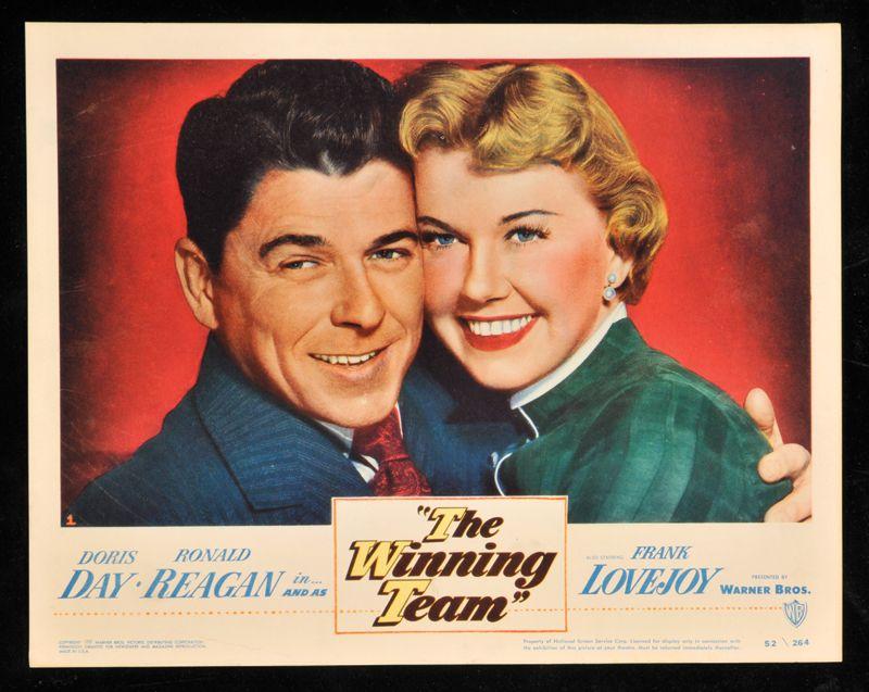 1952 Lobby Card The Winning Team Ronald Reagan Doris Day