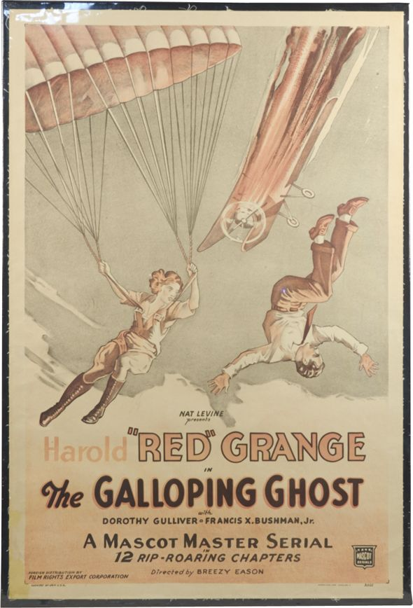 The Galloping Ghost Red Grange one sheet poster