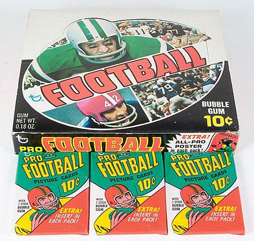 Topps 1970 Football wax box