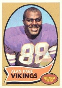 1970 Topps Alan Page football card