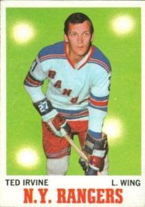 Ted Irvine hockey card