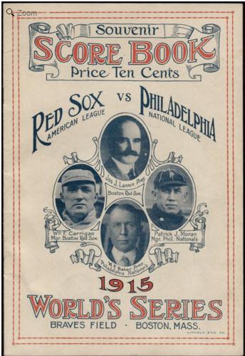 World Series program 1915