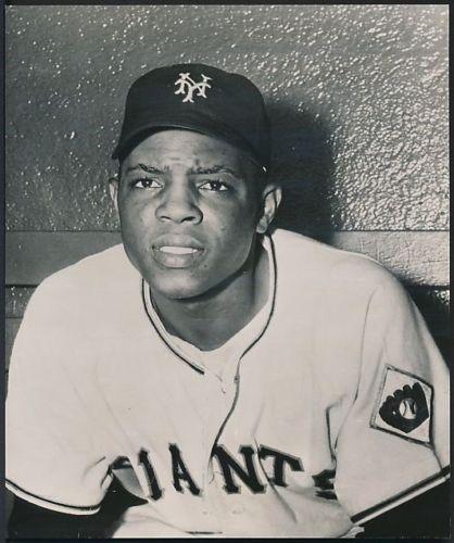 Willie Mays 1951 photo New York Giants