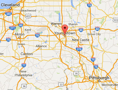 Map of NE Ohio