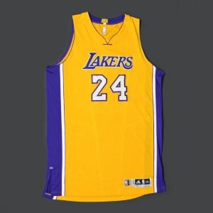 Game-worn Kobe Bryant jersey 2015 home opener
