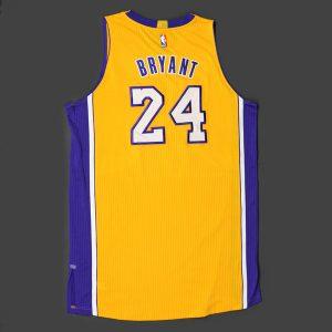 Final home opener jersey Kobe Bryant game worn
