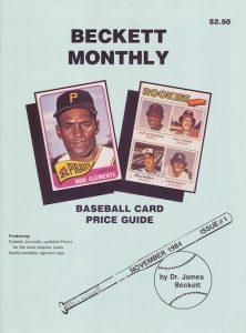 Baseball Card Price Guide - Beckett Number 1 1984