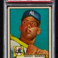 Mickey Mantle 1952 Topps pulled