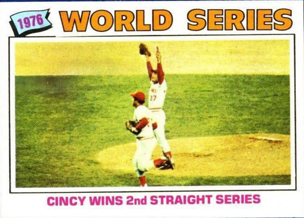 Reds World Series champs 1977 Topps
