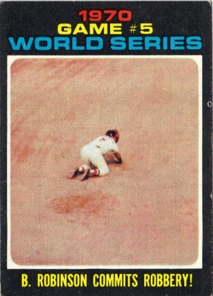 Brooks Robinson 1971 Topps World Series card