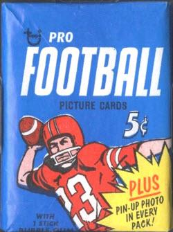 Topps 1968 Football pack