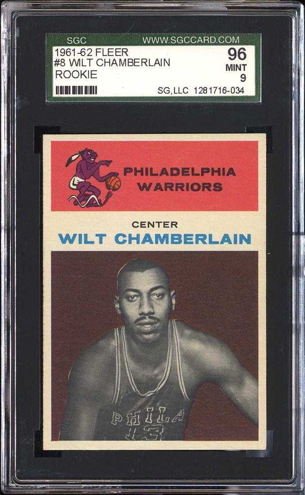 Wilt Chamberlain 1961-62 Fleer SGC 96 mint condition